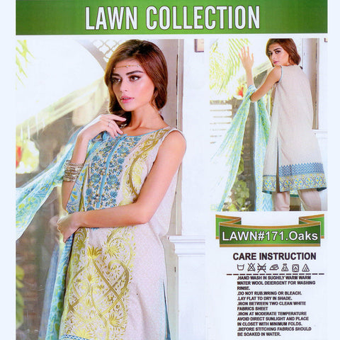 Lawn Collection Unstitched 3 Piece Ladies Suit-ULS61