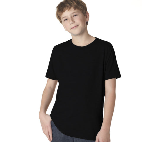 Fassion Crew Neck T Shirt For Boys-Black-BE793