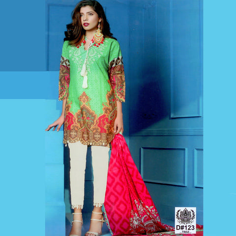 Tehzeeb Lawn Collection Unstitched 3 Piece Ladies Suit-ULS62