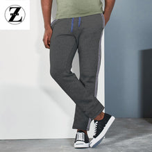 Zara Man Single Jersey Trouser For Men-Gray Melange With Dark Gray Stripe-BE2764