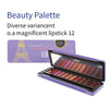 Magnificent Lipstick 12 color palette - JW007