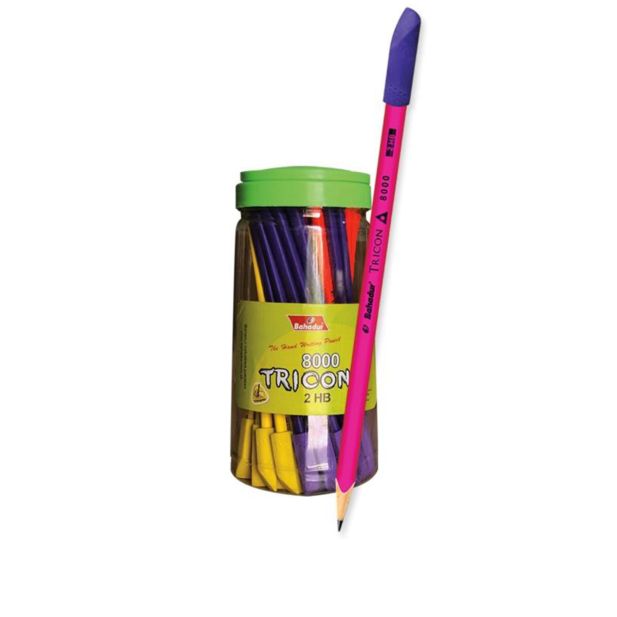 Bahadur The Hand Writing Pencil With Eraser-Assorted-JW239