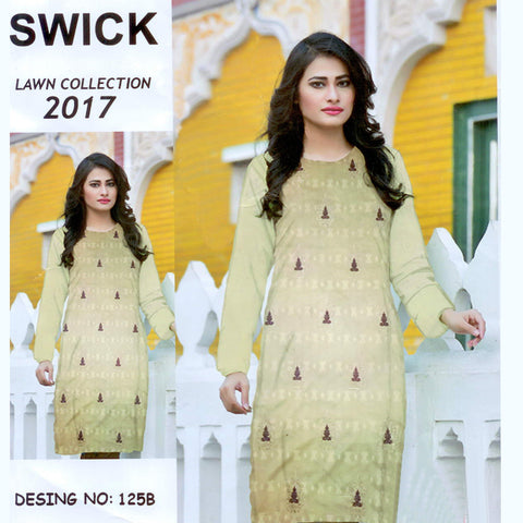 Swick Lawn Collection Unstitched 3 Piece Suit For Ladies-NS03