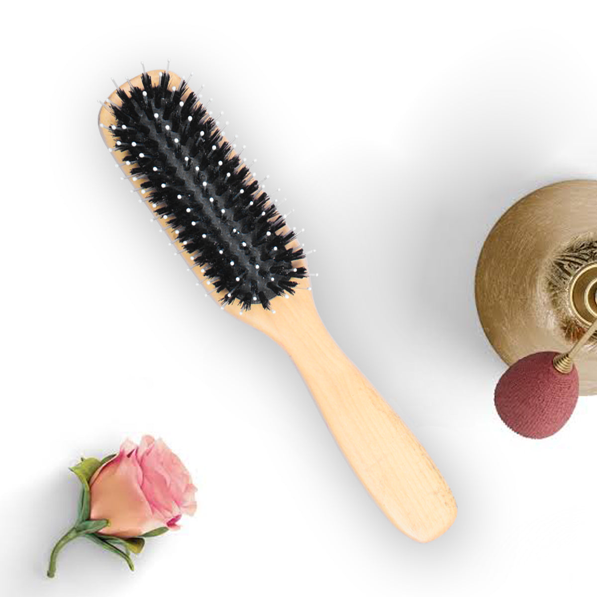 Rectangular Wood Hair Brush-JW139