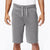 NEXT Terry Fleece Short For Men-Gray Stripes Melange-BE2776