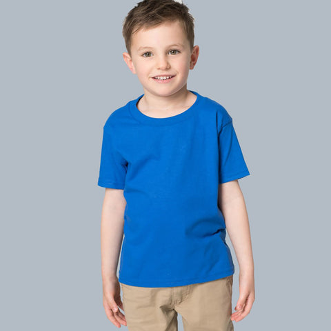 B Quality Next Crew Neck Half Sleeve T Shirt For Kid-Blue-BE2057