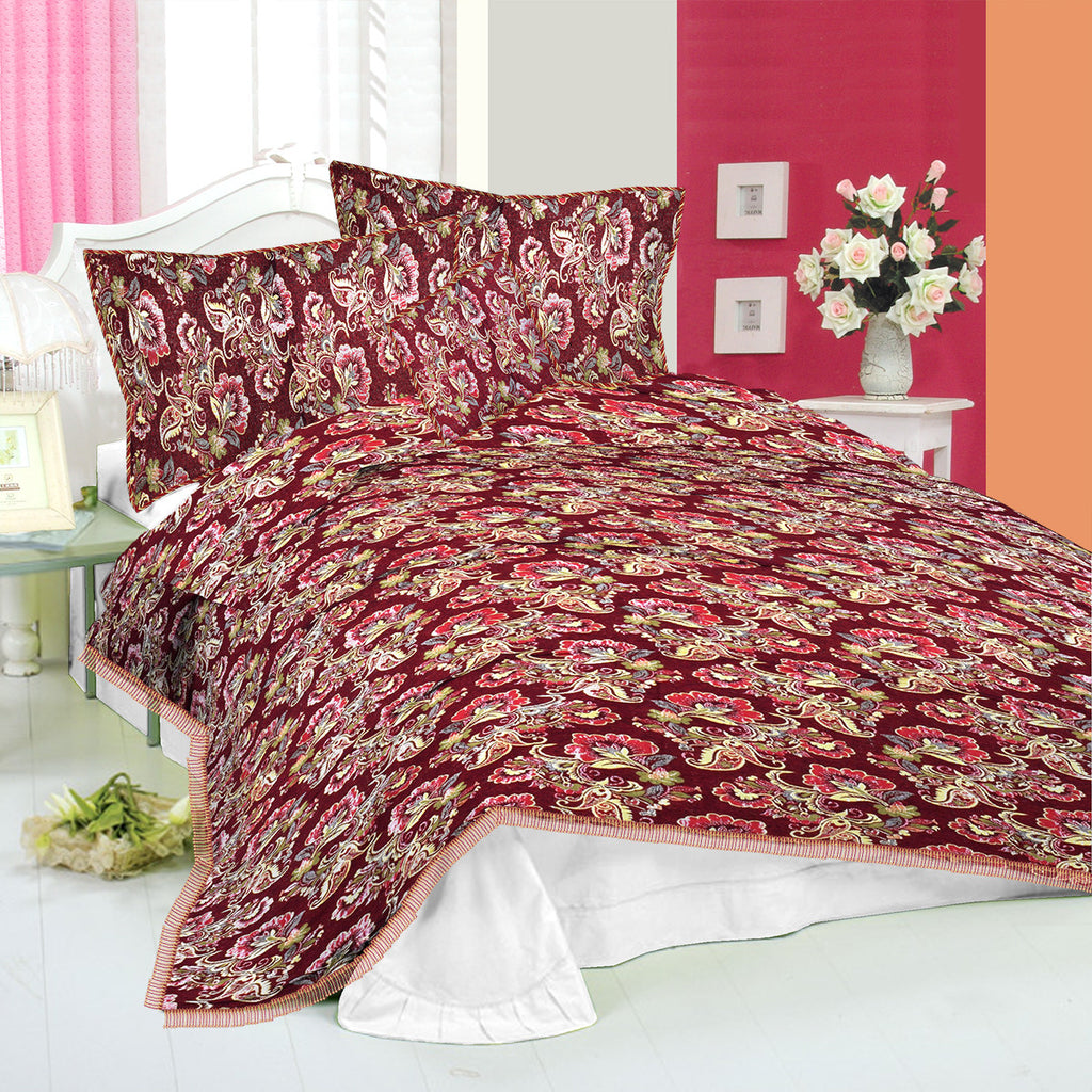 New Tilla Exclusive Jaquard Bed Sheets-TJBS02