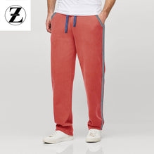 Zara Man Single Jersey Trouser For Men-Light Pink with Gray & White Stripe-BE2756