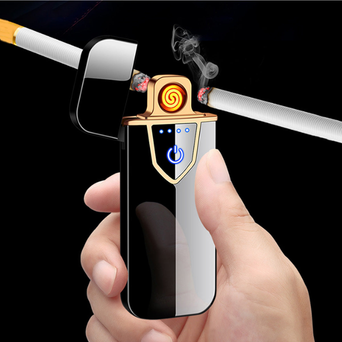 USB Electric Cigarette Lighter Touchscreen Double-sided Touch Sensor-Assorted-JW300