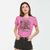 Halloween Single Jersey Crew Neck T Shirt For Women-Pink-BE4651