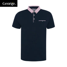 George Polo Pocket Style For Men Cut Label-Dark Navy-BE2483