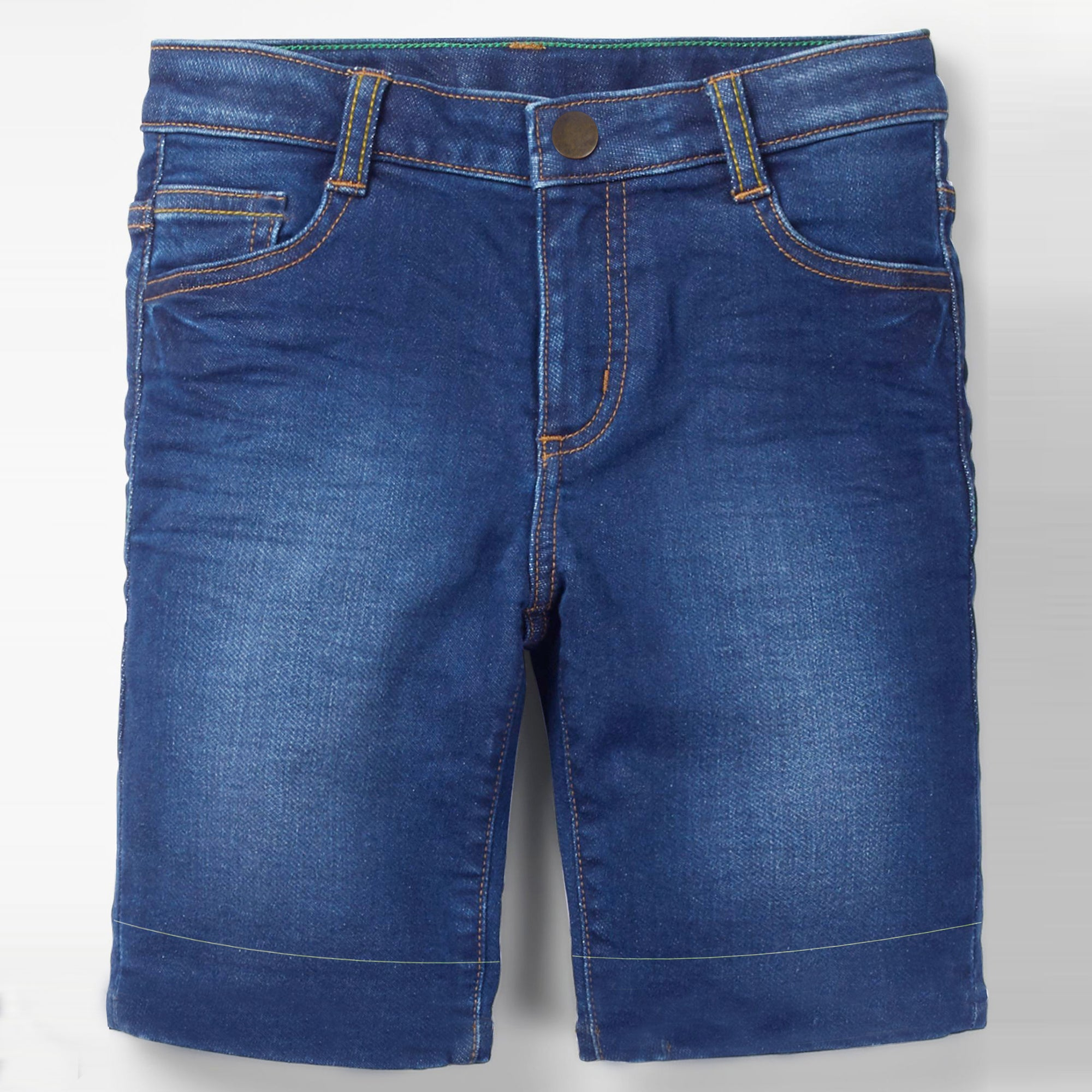PUSH Stretch Denim Short For Boys-Navy With Fadeed-SP094