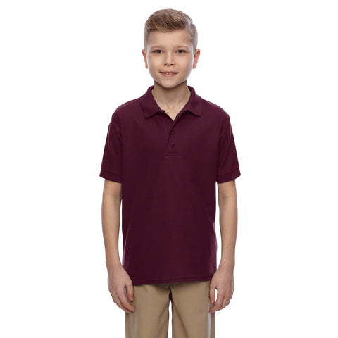 Dickies Polo Shirt For Boys-Dark Maroon-BE788
