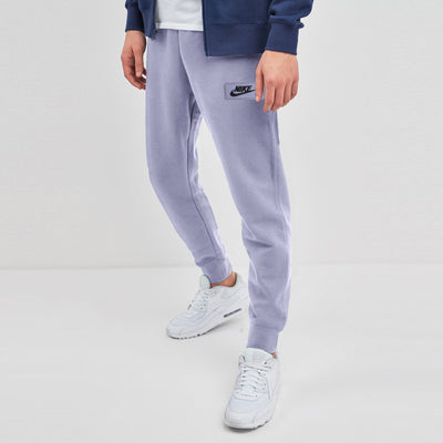NK Terry Fleece Light Purple & Dark Navy Embroidery Slim Fit Jogger Trouser For Men-Light Purple-SP1005