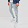 NK Terry Fleece Ice Blue & Dark Navy Embroidery Slim Fit Jogger Trouser For Men-Ice Blue-SP1049