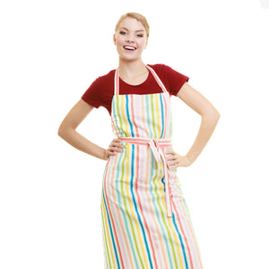 Stylish Printed Stripe Kitchen Apron-BE4820