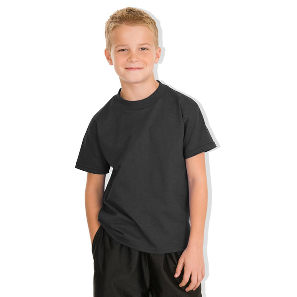 "Kids Cut Label ""NEXT"" Crew Neck Tee Shirt-Charcoal-BE145"