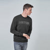 New York Popular Crew Neck Fleece Embroidered Sweatshirt For Men-Charcoal Melange-SP1078