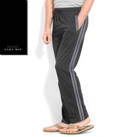 Zara Man Single Jersey Trouser For Men-Charcoal-BE2038