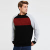 Next Terry Fleece Raglan Sleeve Crew Neck Sweatshirt For Men-Black & Red & White-SP1056