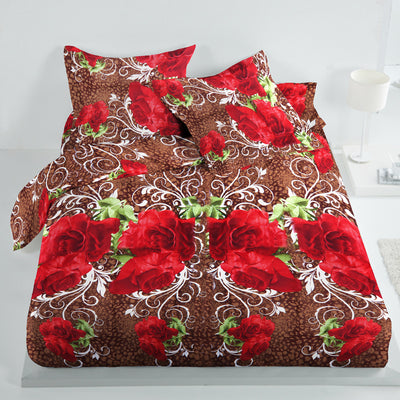 5D Oker's Island 100% Cotton Sutton Printed Double Bed Sheet & Pillow Set-NA6074