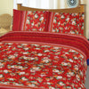 5D Oker's Island 100% Cotton Sutton Printed Double Bed Sheet & Pillow Set-NA6099