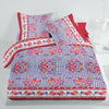 5D Oker's Island 100% Cotton Sutton Printed Double Bed Sheet & Pillow Set-NA6100