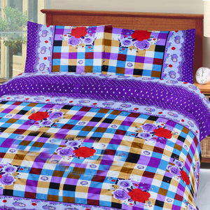 5D Oker's Island 100% Cotton Sutton Printed Double Bed Sheet & Pillow Set-NA6105