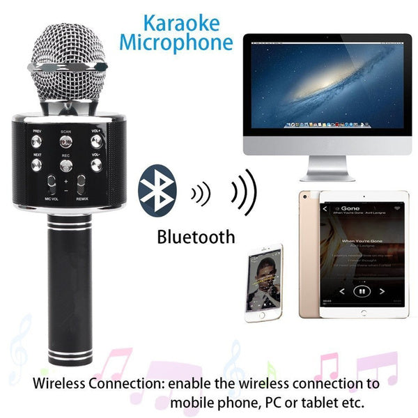 Hand Held KTV Wireless Microphone Speaker-Assorted Color-NA12253