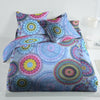 5D Oker's Island 100% Cotton Sutton Printed Double Bed Sheet & Pillow Set-BE5636