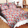 Oker's Island 100% Cotton Printed Double Bed Sheet & Pillow Set-BE5637