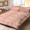 Oker's Island 100% Cotton Printed Double Bed Sheet & Pillow Set-BE5638