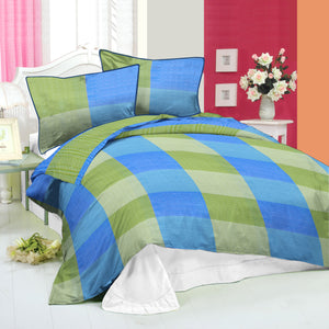 Oker's Island 100% Cotton Printed Double Bed Sheet & Pillow Set-BE5639