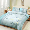 Oker's Island 100% Cotton Printed Double Bed Sheet & Pillow Set-BE5640