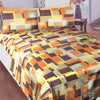 Oker's Island 100% Cotton Printed Double Bed Sheet & Pillow Set-BE5643