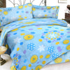 Oker's Island 100% Cotton Printed Double Bed Sheet & Pillow Set-BE5644