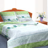 Oker's Island 100% Cotton Printed Double Bed Sheet & Pillow Set-BE5645