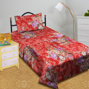 5D Oker's Island 100% Cotton Sutton Printed Single Bed Sheet & Pillow-BE5626
