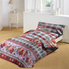 5D Oker's Island 100% Cotton Sutton Printed Single Bed Sheet & Pillow-BE5650
