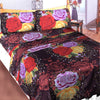 5D Oker's Island 100% Cotton Sutton Printed Double Bed Sheet & Pillow Set-NA6104