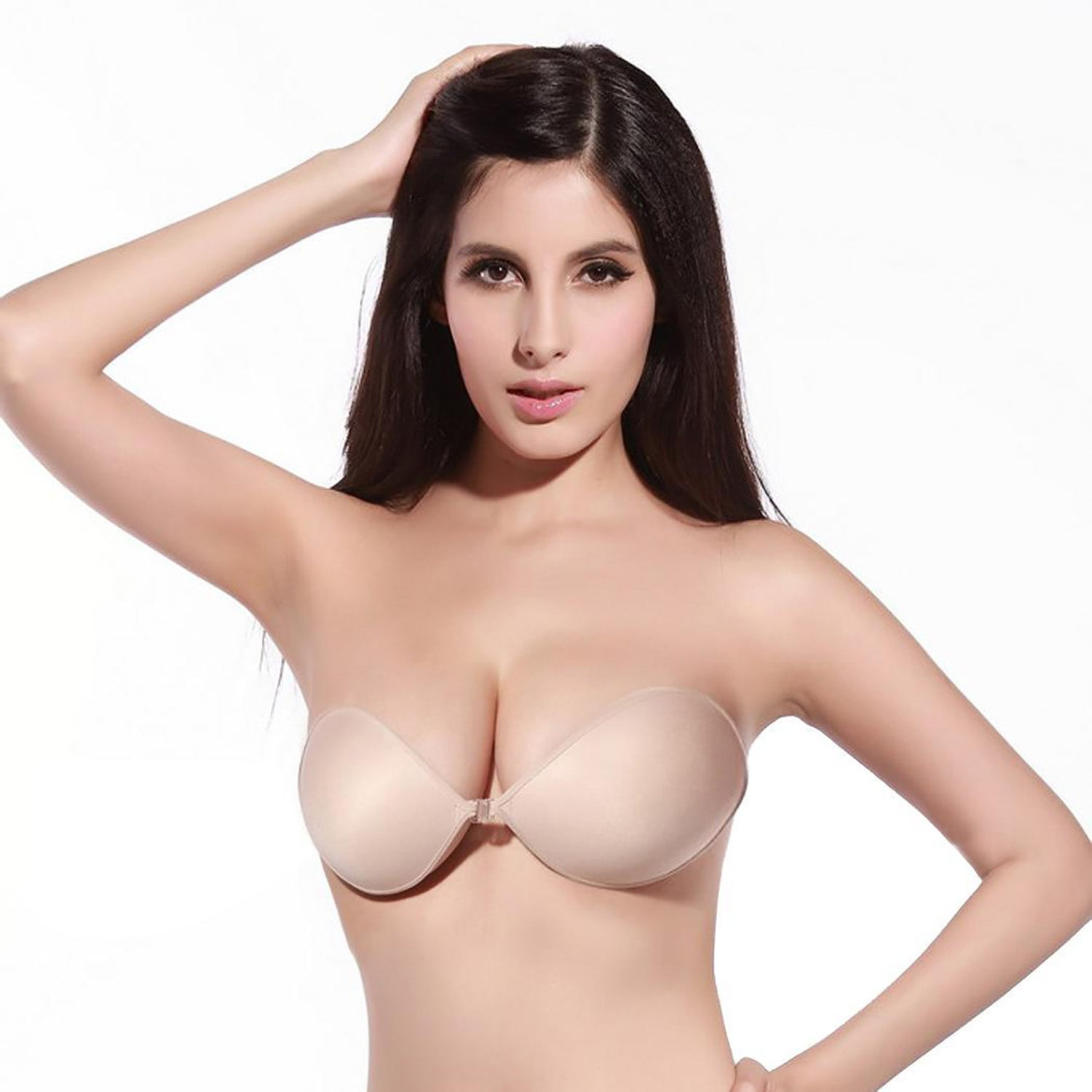 Mi & Ko Ladies Backless Strapless Bra-Skin-SP2514