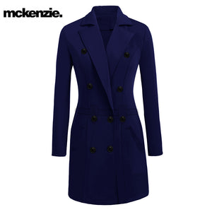 McKenzie Stylish Long Trench Coat For Ladies-Light Purple-NA231