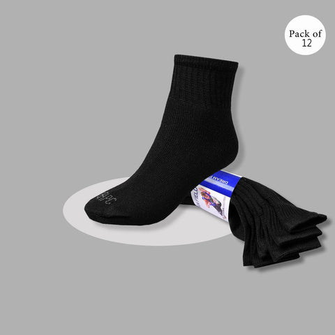 "Pack Of 12 Unisex ""Ted Baker"" Sock's-Black-So16"