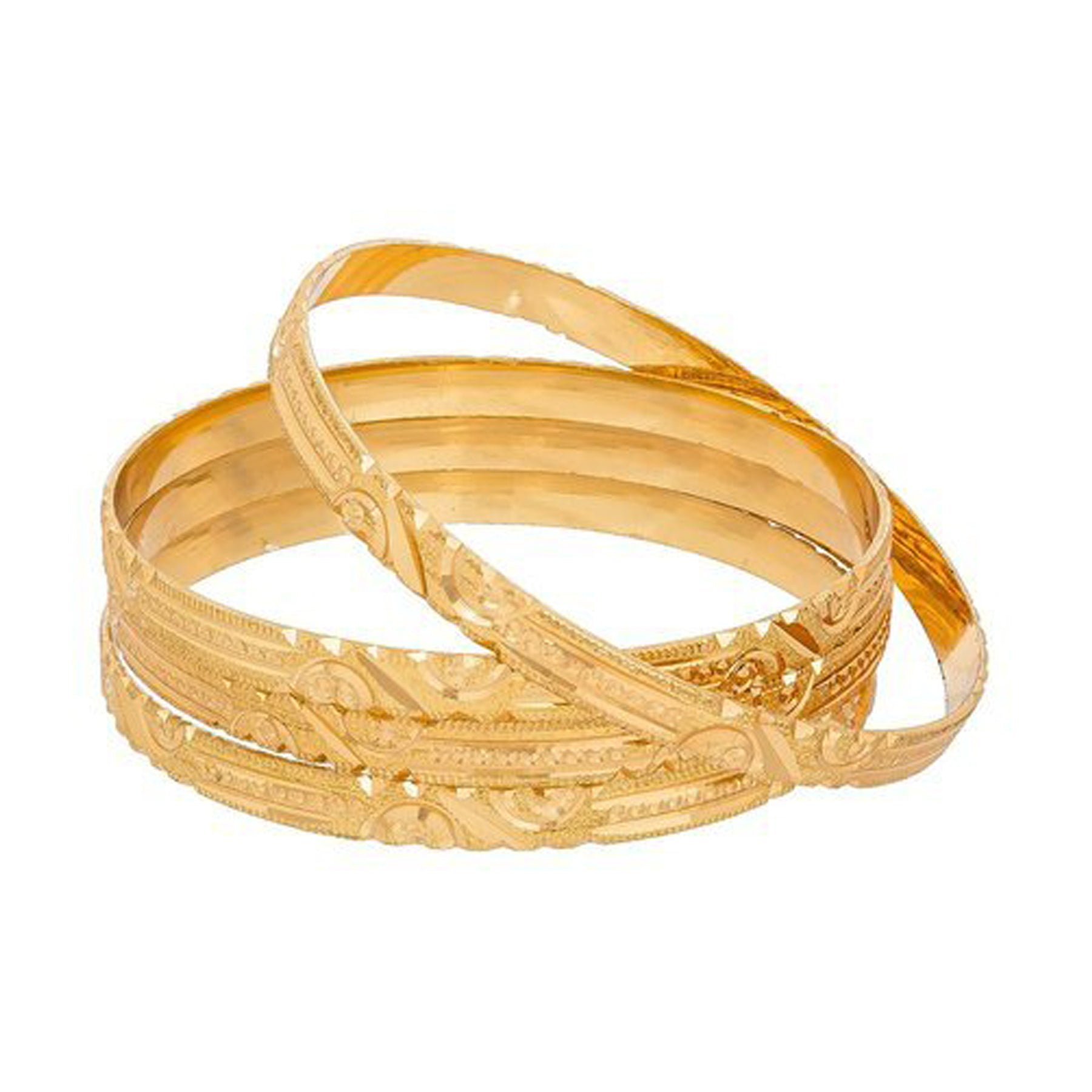 Stylish Trending Golden Color Bangles-JW172
