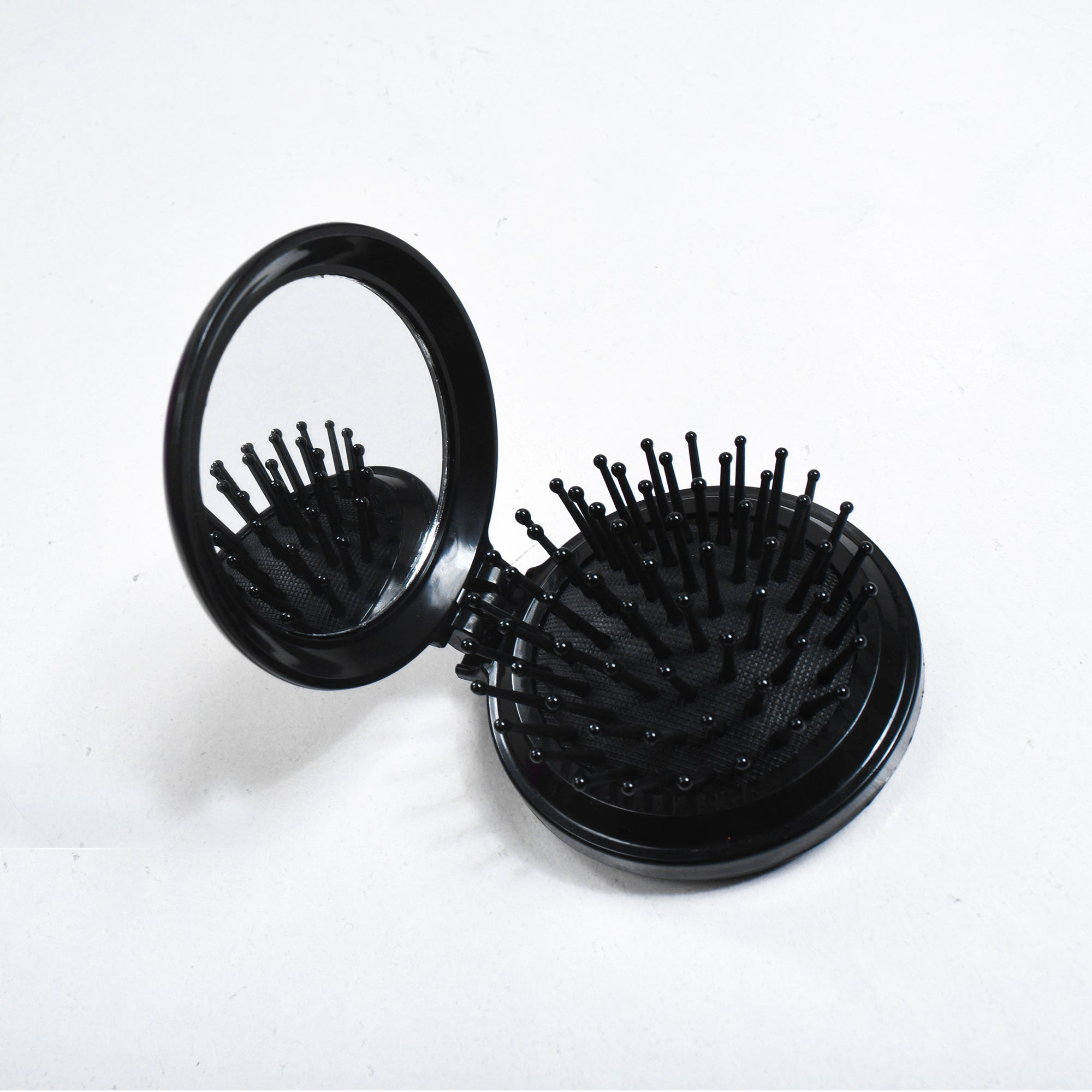 Fold mirror and comb Round Foldable Comb with Mirror Health Massage Brush Hair Comb-SK0389