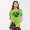 Halloween Single Jersey Crew Neck T Shirt For Women-Parrot-BE4648