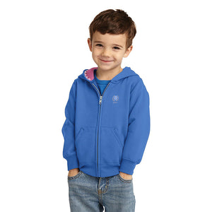 Fat Face Terry Fleece Full Zipper Hoodie For Boys-Blue-BE3762