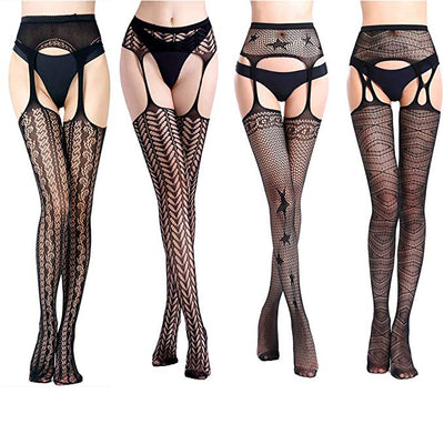 Suspender Pantyhose Thigh High Stockings-Assorted-NA10756
