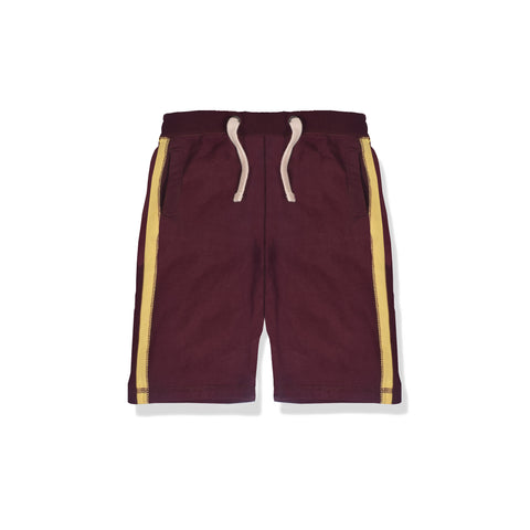 Next Fleece Short For Kid Cut Label -Maroon-BE2289
