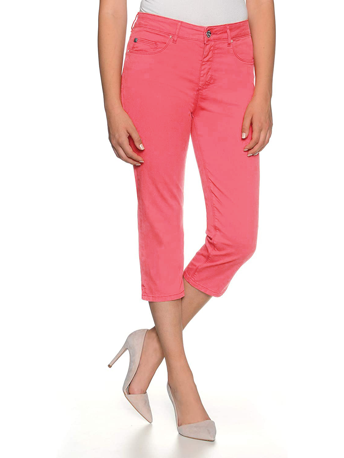 Stooker Slim Fit Stretch Capri For Ladies-Light Hot Pink-F175